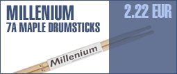 Millenium 7A Drum Sticks Maple -Wood-