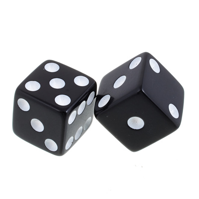 Allparts Dice Poti Knobs Black