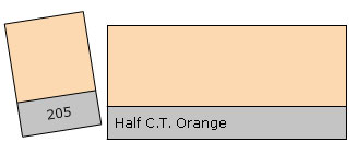 Lee Colour Filter 205 H.C.T.Orange
