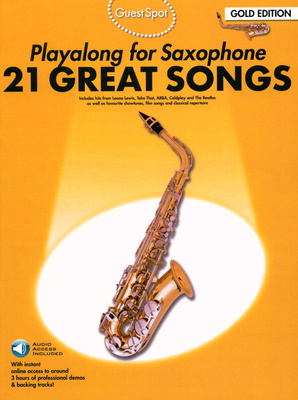 Music Sales Guest Spot 21 Songs Alto Sax